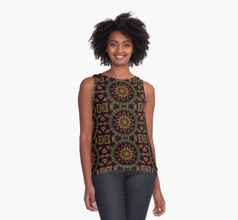 Aztec Sun Mandala by webgrrl