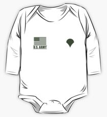 Specialist Infantry US Army Rank Desert by Mision Militar ™ One Piece - Long Sleeve