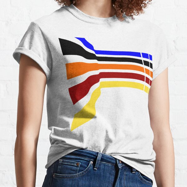 Wavy Rainbow Pattern Classic T-Shirt