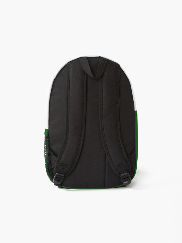 Alternate view of shhh be quiet I'm working v1 - RED font Backpack