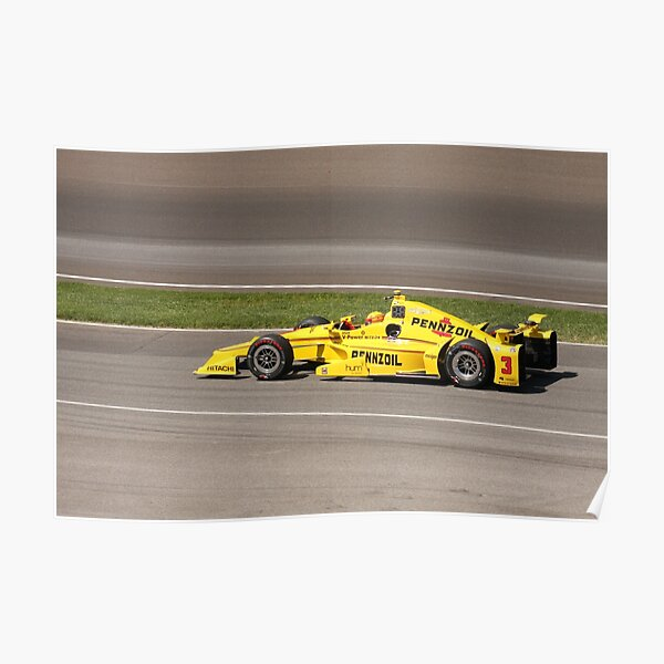 Helio Castroneves at Indy  Poster