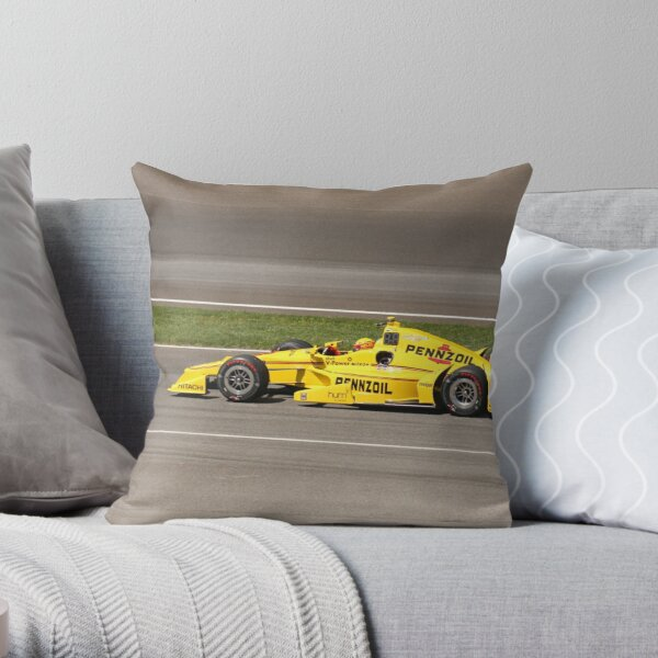 Helio Castroneves at Indy  Throw Pillow