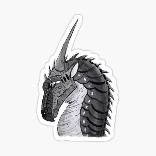 Dragon - Darkstalker watercolor by Emily Albright Sticker