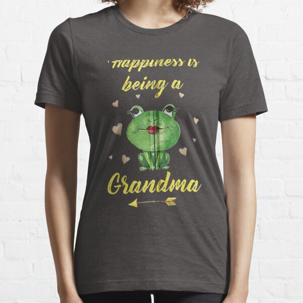 Funny Grandma Frog Lover Happiness Is Being A Grandma Essential T-Shirt