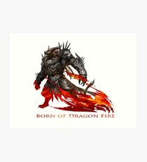 Guild Wars 2 - Born of Dragon Fire Art Print