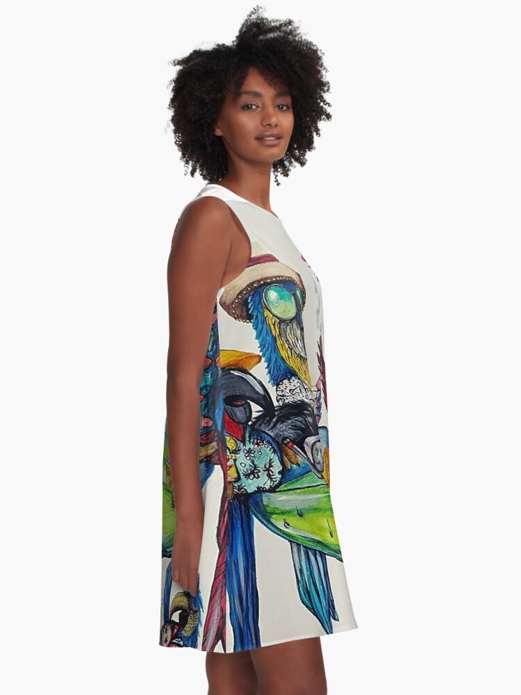 Alternate view of Welcome to Parrotise A-Line Dress