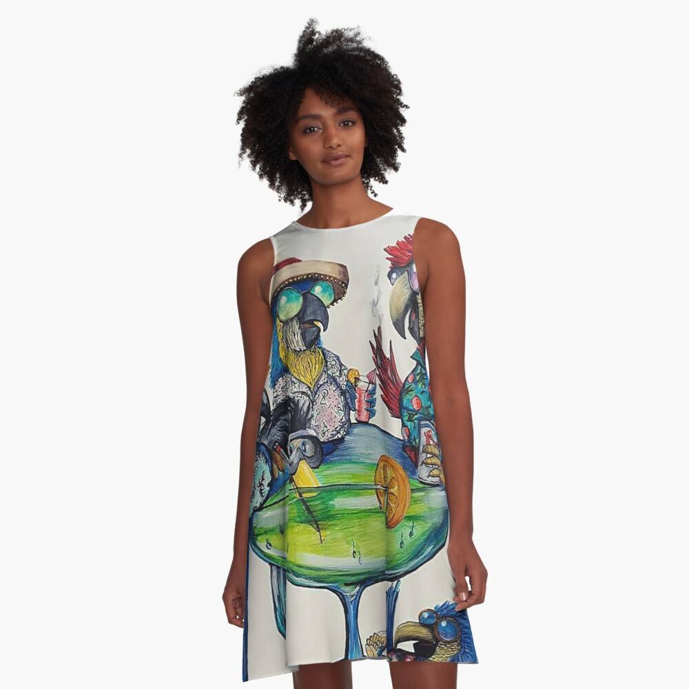 Welcome to Parrotise A-Line Dress