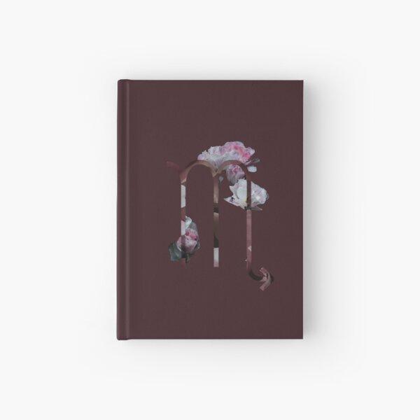 Scorpio Flower Hardcover Journal
