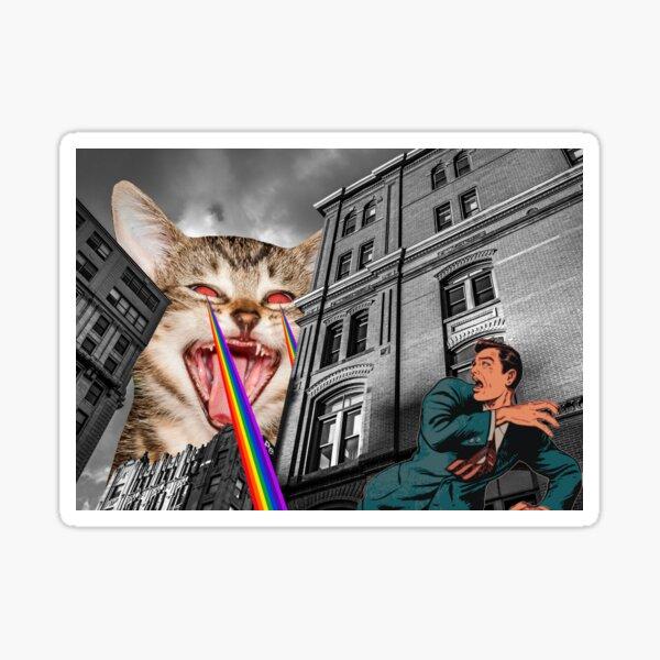THE CAT STRIKES BACK Sticker