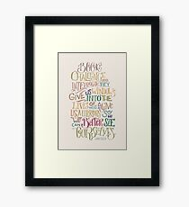 Challenge and Interrogate Framed Print