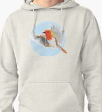 A Beautiful British Robin Pullover Hoodie