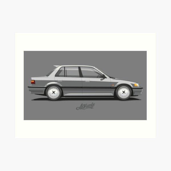 Honda Civic Mk4 (EF) 4door Sedan 2 Art Print