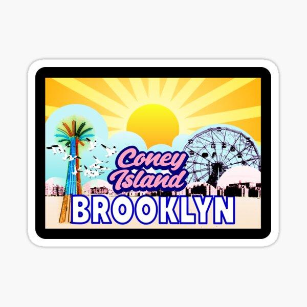Brooklyn NY Coney Island beach Sticker