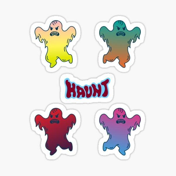 Ghosts haunt in packs! Sticker