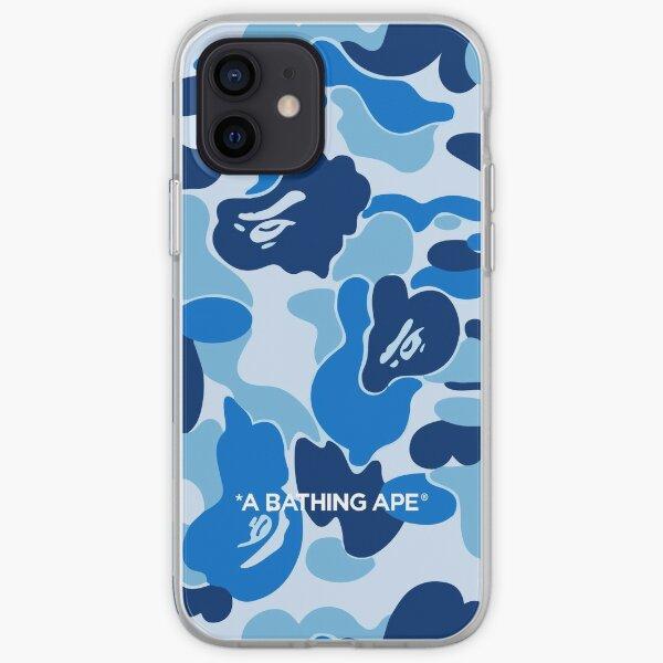 Bape ABC Camo Bleu Coque souple iPhone