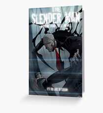 Slender Man Greeting Card