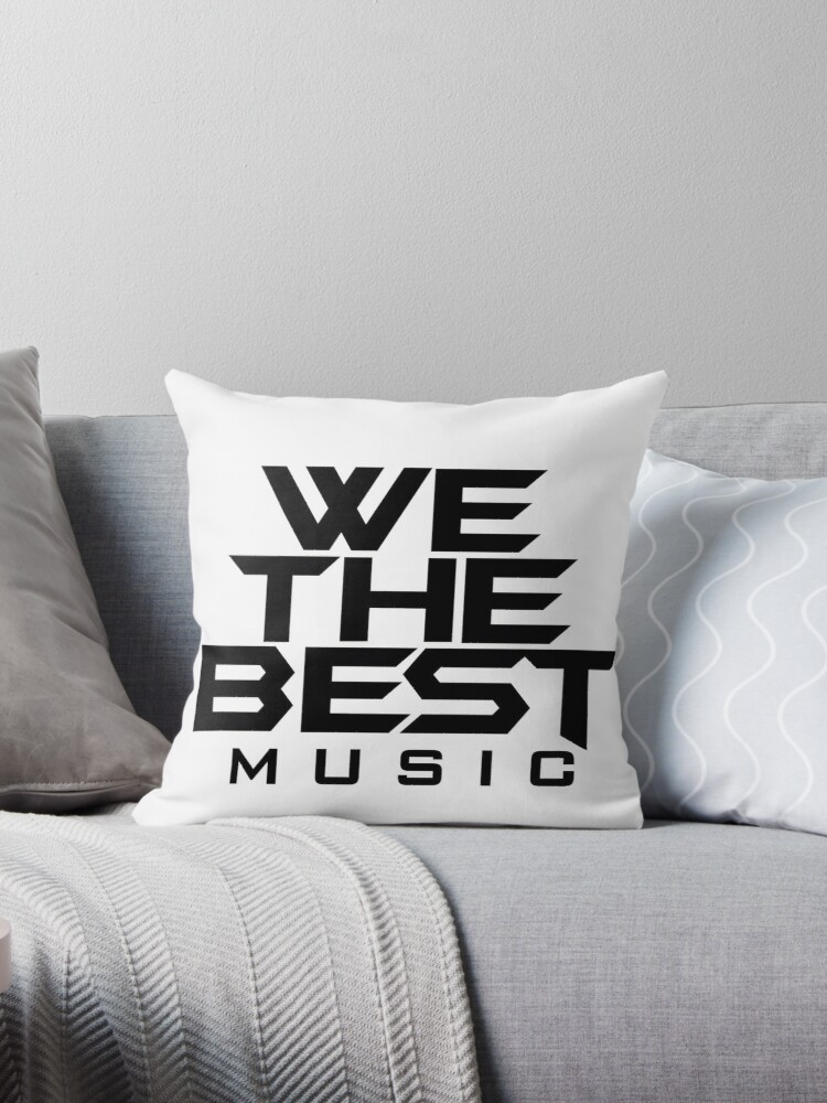 Quot We The Best Music Logo Quot Throw Pillows By V0guelightz
