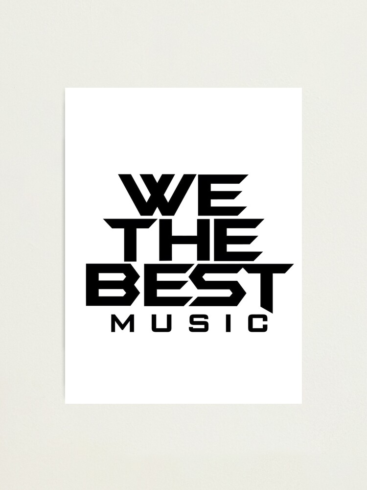 Alternate view of We The Best Music Logo Photographic Print