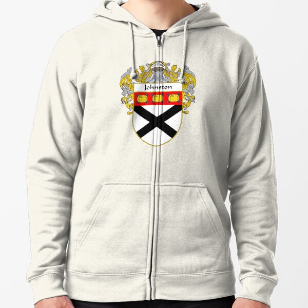 Johnston Coat of Arms/Family Crest Zipped Hoodie