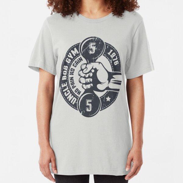 Gym vintage emblem Slim Fit T-Shirt