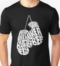 Float Like A Butterfly, Sting Like a Bee (White) T-Shirt