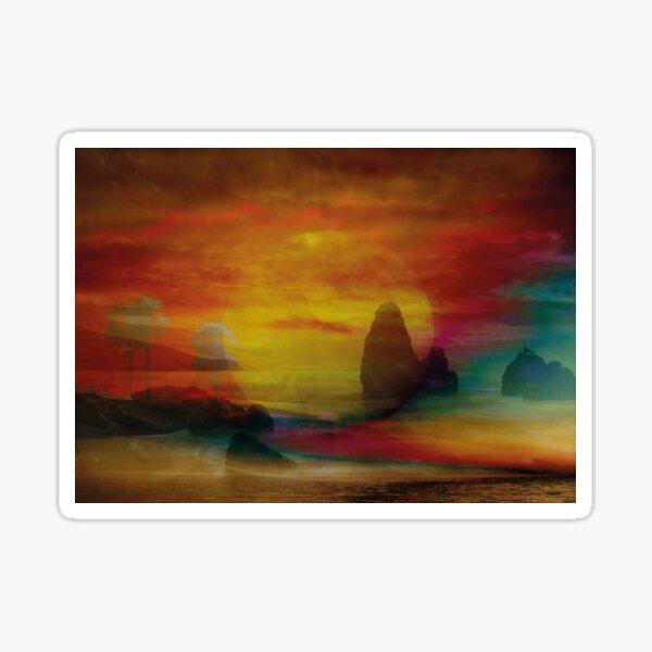 Sonnenuntergang am Meer Sticker
