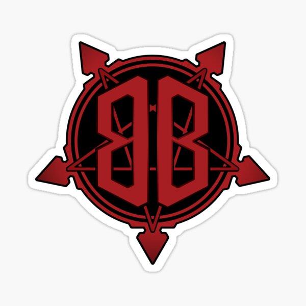 Bridgeburner Logo Red Gradient Sticker