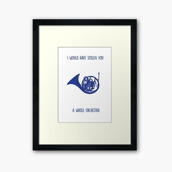 Cuerno francés azul Lámina enmarcada