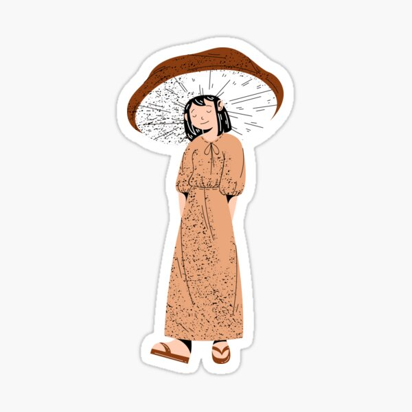 Shiitake Mushroom Sticker