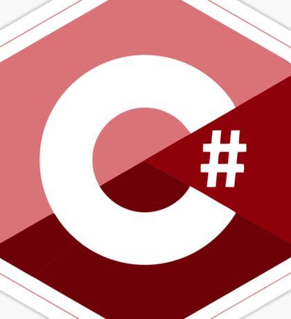 c sharp red language programming c# Sticker