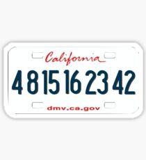 Lost License Plate Sticker