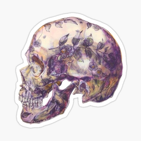 purple skull Sticker