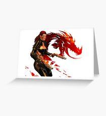 Guild Wars 2 - A human shooter Greeting Card