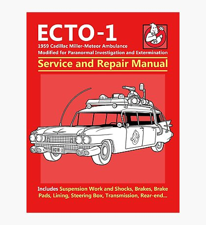 ECTO-1 Service and Repair Manual Photographic Print