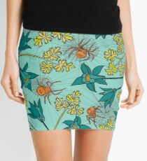 Alpine-Columbine bloom Pattern Mini Skirt