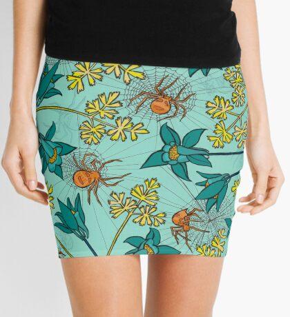 Alpine-Columbine bloom Pattern Mini Skirt