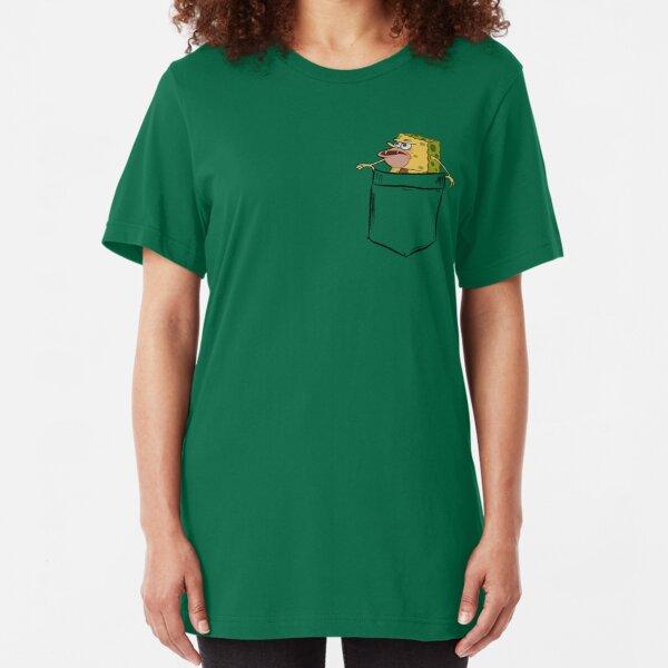 Caveman Spongebob (Primitive Spongegar) Pocket Shirt - Spongebob Slim Fit T-Shirt