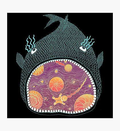 Cosmic Fish with Gingerbread Astronaut Photographic Print