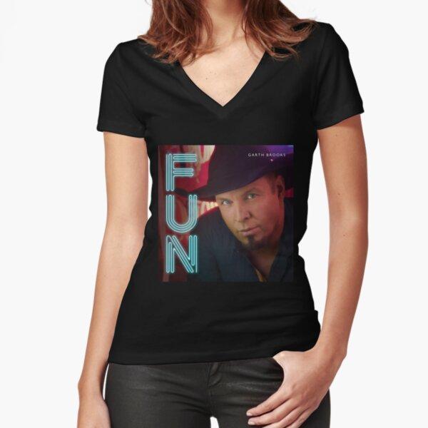 Garth Brooks Fun Fitted V-Neck T-Shirt
