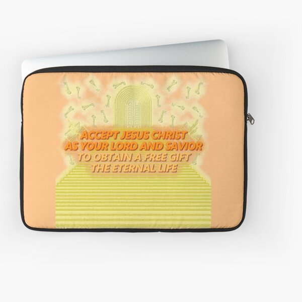 ACCEPT JESUS CHRIST Burn Orange Yellow Sunshade Laptop Sleeve