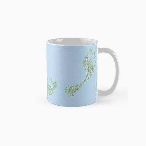 Blauer Plastikfußabdruck Tasse (Standard)