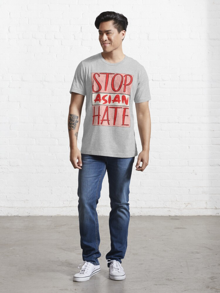 Alternate view of Asian Support- Stop Asian Hate - Anti Asian Racism Awareness Essential T-Shirt