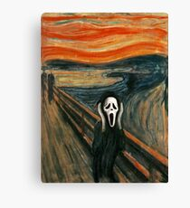 (The) Scream Parody Canvas Print