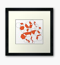 Hexagon Depth Framed Print