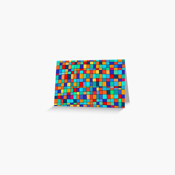 Color Squares Greeting Card