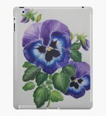 Vinilo o funda para iPad Arte botánico de la flor del pensamiento púrpura