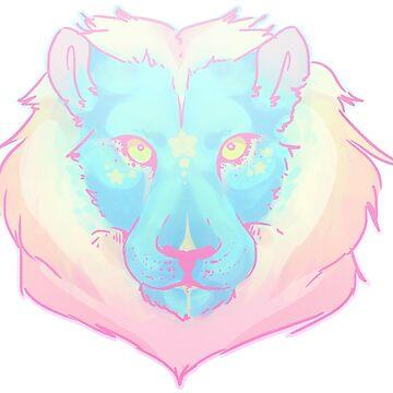 Bright Pastel Lion by ATinyShadow