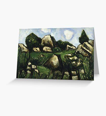 Marsden Hartley (American, ). Green Landscape with Rocks, No. 2,  Greeting Card