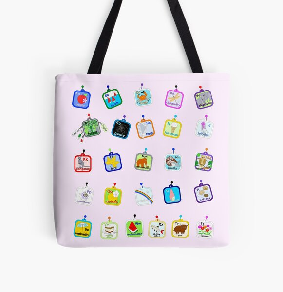 The Alphabet 2021 (fairy pink) All Over Print Tote Bag