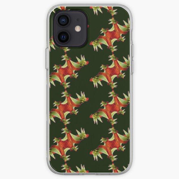 D1G1TAL-M00DZ ~ FLORAL ~ FRACTALS ~ Red Kangaroo Paw OT-Fractals Variations by tasmanianartist 130619 iPhone Soft Case